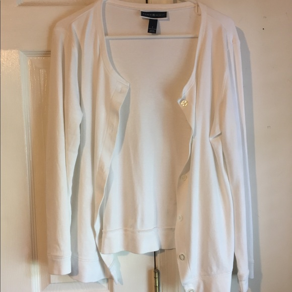 Karen Scott Sweaters - White Cardigan